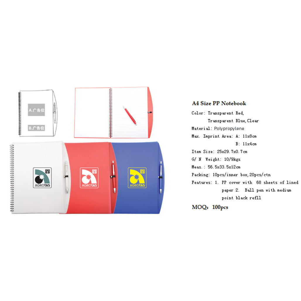 A4 Size PP Notebook 3