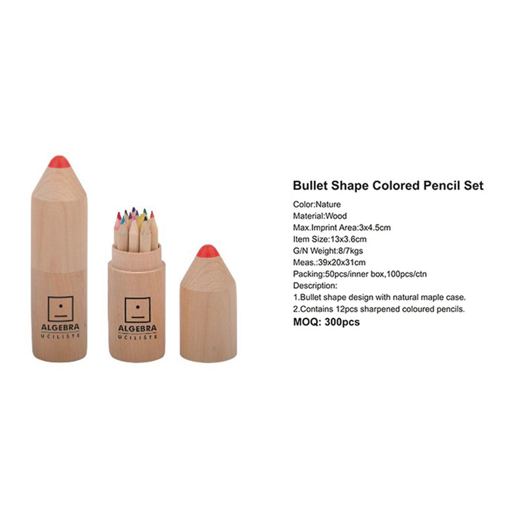 Bullet Shape Colored Pencil Set 4