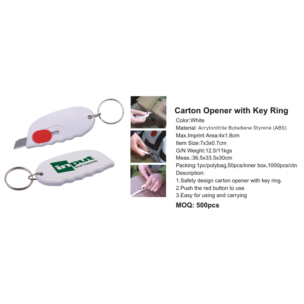 Carton Opener With Key Ring 3