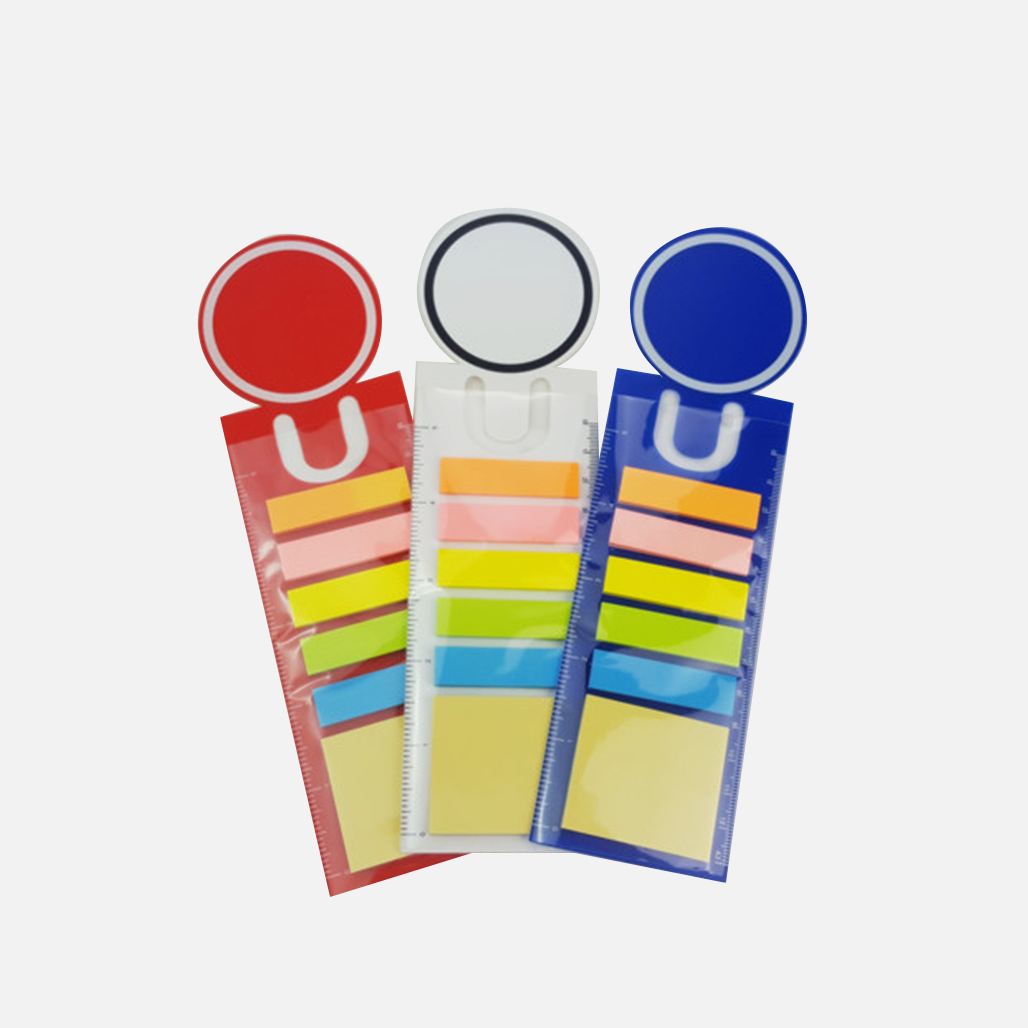 PP Sticky Notes with Boomark and Ruler 8