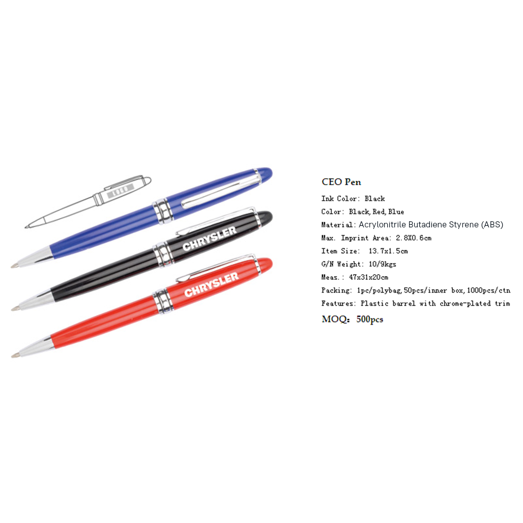 Plastic CEO Pen 4